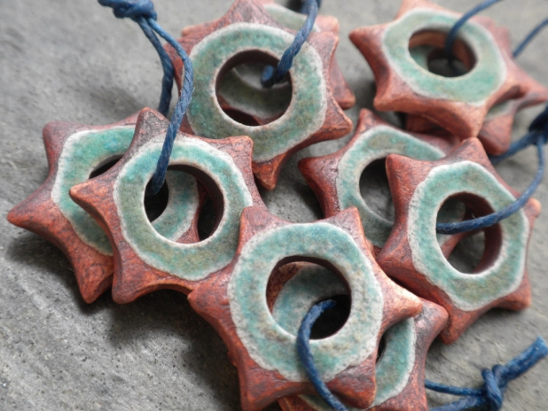 Star matched bead pair from Slate Studios Supply