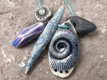 Ceramic art beads from Slate Studios Supply